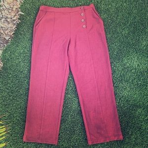 Elodie Side Button Ankle Pants
